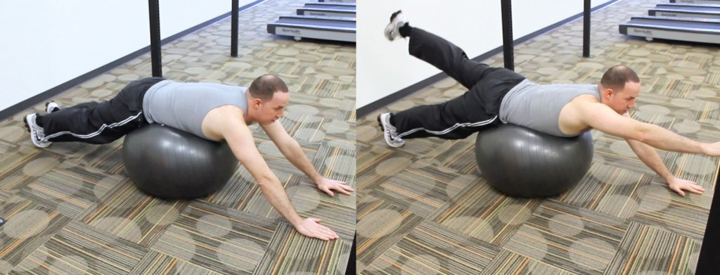 ball core activation to reduce back pain in frederick md 2