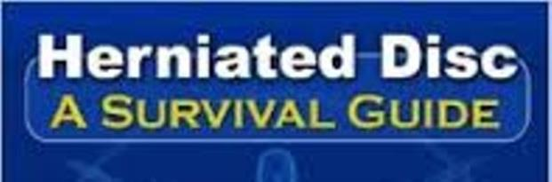 herniated disc a survival guide pdf